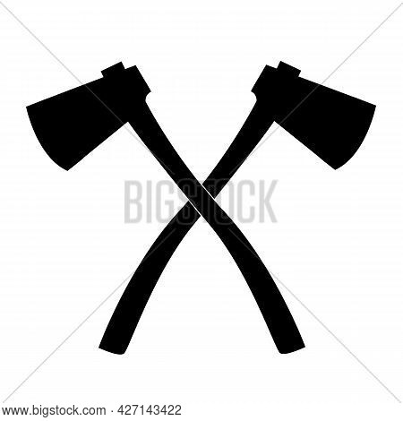 Axe Icon On White Background. Ax Sign. Chisel Symbol. Flat Style.