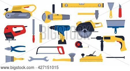 Construction Hardware. Home Repair Tools. Building Carpentry And Electric Engineering Equipment. Han