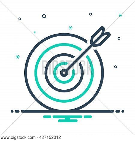 Mix Icon For Purpose Objective Aim Goal Darts Arrows Target  Darts-board