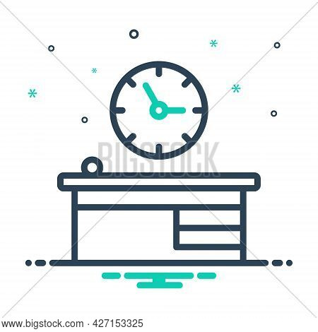 Mix Icon For Office-clock Time-is-running Reminder Schedule Countdown Hour Quick Clock Time Device T