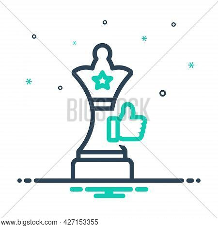 Mix Icon For Success-strategy Chess Final Game Play Sport Strategies Success Achievement