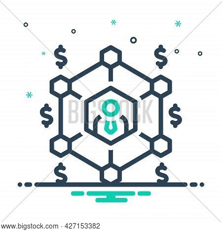Mix Icon For Business-network Network Business Grid Communication Union Organization Interaction Hub