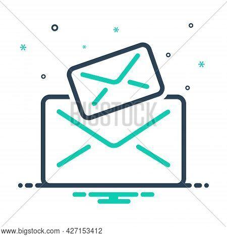 Mix Icon For E-mail Letter Messages  Text Scenarios Script Document Spam Envelope