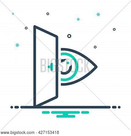 Mix Icon For Eye-looking Vision See View Look Sight Watch Eyesight Peep Eyeball Optical Human Door