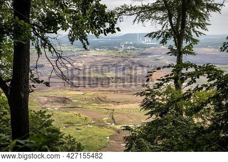 Brown Coal Surface Mine Near Most City In Czech Republic, Europe