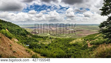 Panorama Of Surface Brown Coal Mine Near Most Town - Czech Republic, Europe