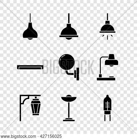 Set Lamp Hanging, Chandelier, Vintage Street Light, Floor Lamp, Light Emitting Diode, Fluorescent An