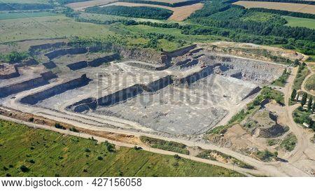 Quarry For The Extraction Of Granite. Granite Quarry.