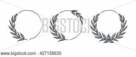 Wreaths. Frames Branches Wreaths. Decorative Frames. Decorative Elements Concept. Vector Illustratio