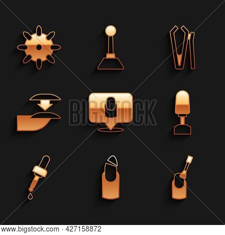 Set Manicure, Broken Nail, Nail Manicure, Milling Cutter For, Pipette With Oil, False Nails, And Ico