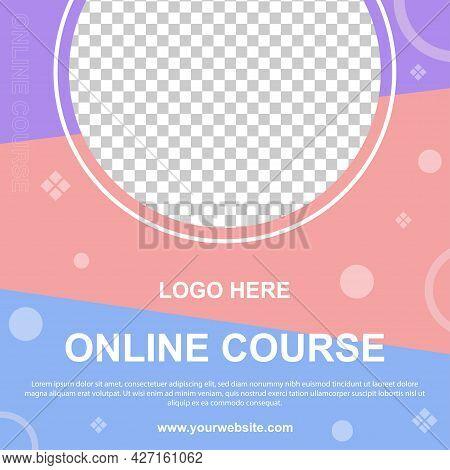 Online Course Social Media Post Banner Template. Editable For So Web Banner For Social Media.vector