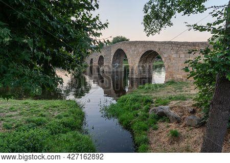 The So-called Old Bridge Or Romanesque Bridge Crosses The Alberche River As It Passes Through The Sp