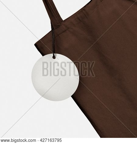 Tote bag and tag label
