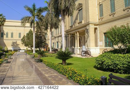 Cairo - Egypt - October 4, 2020: Presidency Museum And Facade Of Abdeen Royal Palace, Located In Eas