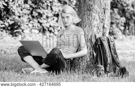 Woman Work On Laptop. Students Life. Pretty Woman. Online Education. Student Girl Study Online. Mode