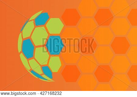 Orange Abstract Background Soccer Or Football Texture Vector Illustration Template