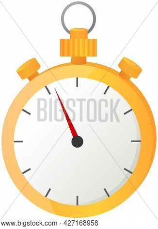 Stopwatch For Sports, Time Measurement Vector Icon. High Speed Timer For Plans, Management And Progr