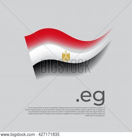 Egypt Flag. Stripes Colors Of The Egyptian Flag On A White Background. Vector Stylized Design Nation