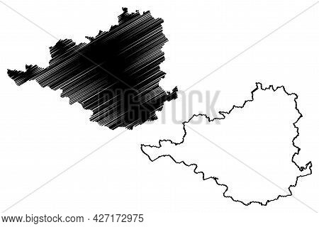 Prignitz District (federal Republic Of Germany, Rural District, State Of Brandenburg) Map Vector Ill