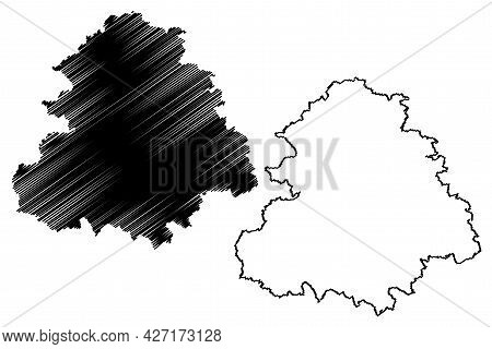 Rems Murr District (federal Republic Of Germany, Rural District, Baden-wurttemberg State) Map Vector