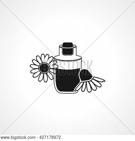 Chamomile Skin Lotion Icon. Chamomile Skin Lotion Isolated Simple Vector Icon.