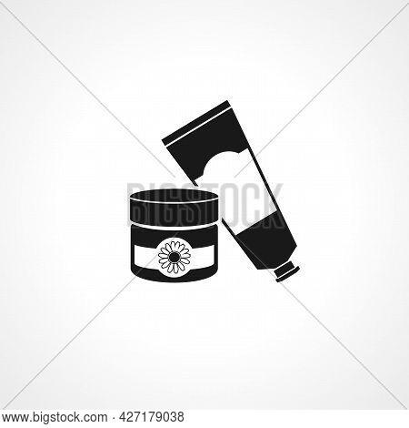 Cosmetic Cream Icon. Cosmetic Cream Isolated Simple Vector Icon.