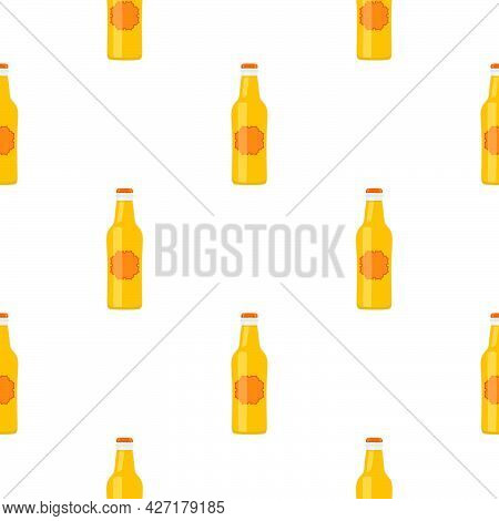 Illustration On Theme Seamless Beer Glass Bottles With Lid For Brewery