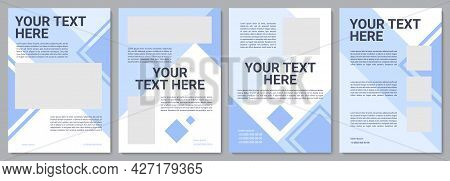 Industrial Production Brochure Template. Flyer, Booklet, Leaflet Print, Cover Design With Copy Space