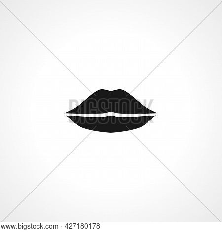 Lips Icon. Lips Isolated Simple Vector Icon.