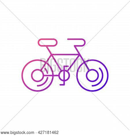 Bicycle Gradient Linear Vector Icon. Taiwan Cycling Travel. Riding Round Entire World. Asian Journey