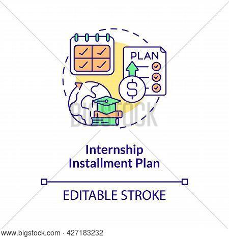 Internship Installment Plan Concept Icon. Intern Financing Option Abstract Idea Thin Line Illustrati