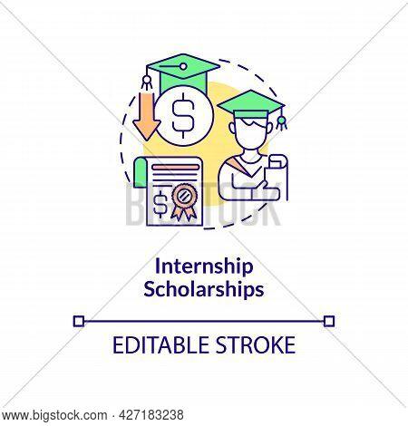 Internship Scholarships Concept Icon. Internship Programs Financing Abstract Idea Thin Line Illustra