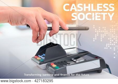 Contactless and cashless society financial technology