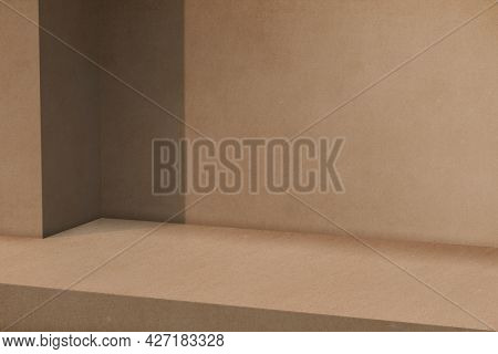 Brown product backdrop with blank space