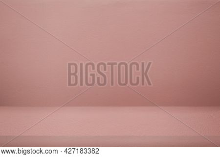 Pink product backdrop with blank space