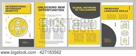 International Internship Benefits Brochure Template. Global Network. Flyer, Booklet, Leaflet Print,