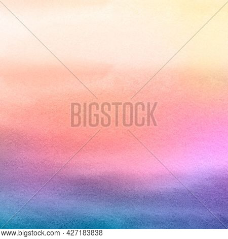 Dark ombre rainbow watercolor style background illustration