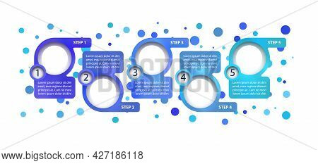 Blue Corporate Vector Infographic Template. Roadmap Presentation Design Elements With Text Space. Da