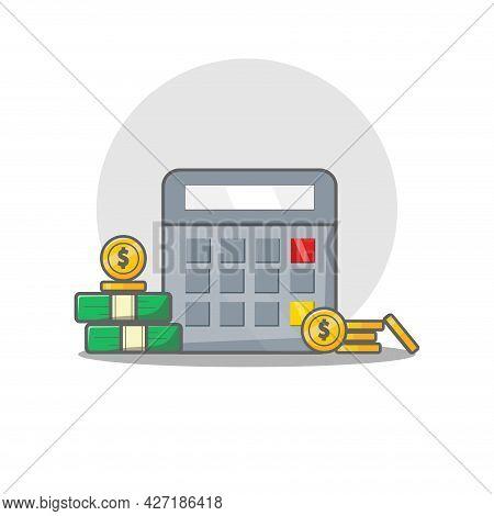 Calculator Clipart. Calculator Isolated Simple Flat Vector Clipart