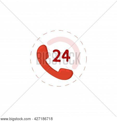 Call Center Clipart. Call Center 24 Isolated Simple Flat Vector Clipart
