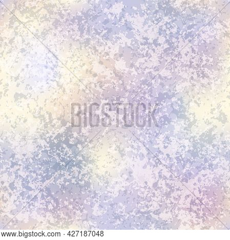 Vector Holographic Distressed Foil Seamless Pattern. Shiny Rainbow Gold Patina Grunge Repeat Texture