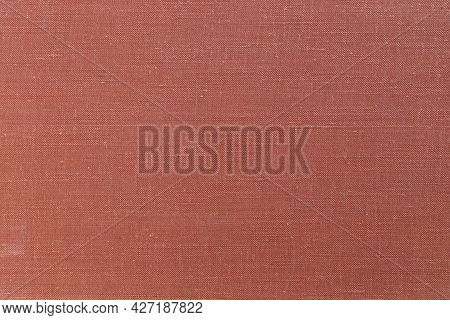 Abstract Background Of Brick Color. Terracotta Color. Empty Flat Surface. Back For An Ad Or Advertis