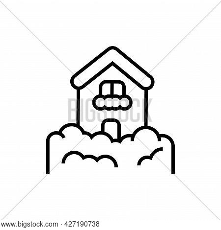 Snow Drifts Icon. Nature Disaster Vector Illustration.