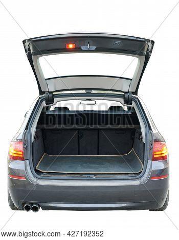 Opened Trunk Of Modern Car