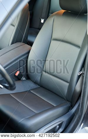 Clean Leather Driver Car Seat