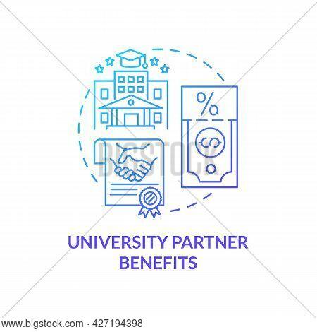 University Partner Benefits Concept Icon. Internship Programs Financing Option Abstract Idea Thin Li