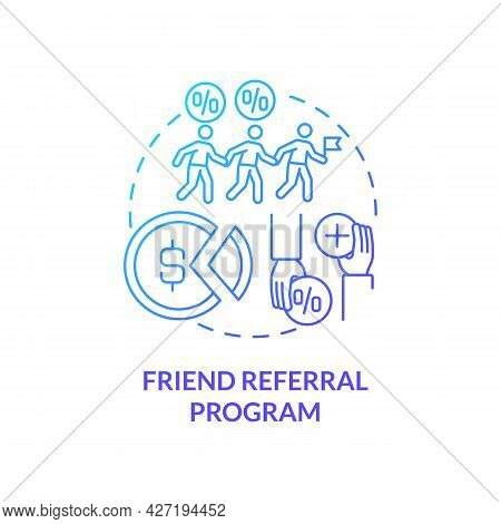 Friend Referral Program Concept Icon. Internship Financing Abstract Idea Thin Line Illustration. Fin