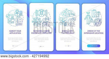 Internship Overseas Procedure Onboarding Mobile App Page Screen. Select Career Field Walkthrough 4 S