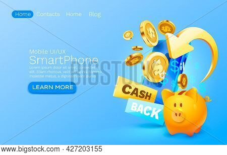 Mobile Cash Back Service, Financial Payment Smartphone Mobile Screen, Technology Mobile Display Ligh