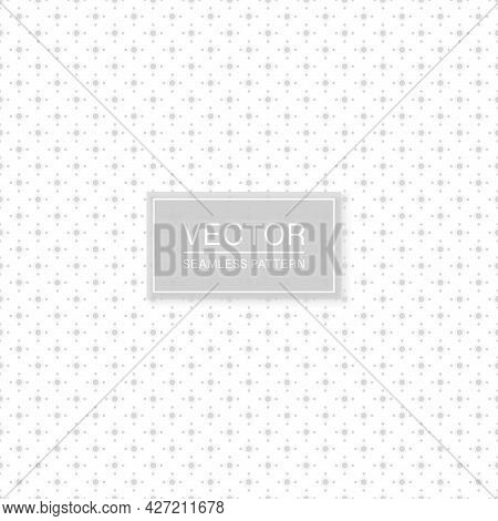 Stylish Seamless Dotted Pattern - Simple Minimalistic Design. White And Grey Decorative Texture. Abs